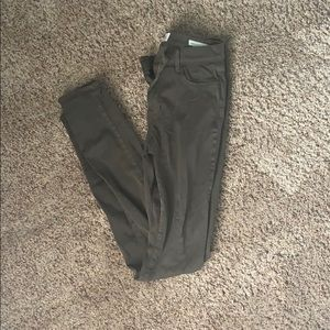 Pacsun Olive Green Jeggings (Size 26L)